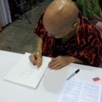 George Perez doing what he does best. One of the nicest guys in the business.