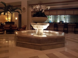 Fountain in one of the many lobbies/ bar areas.
